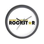 World's Best Dad Rockstar Wall Clock