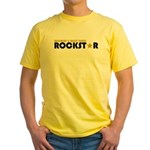 World's Best Dad Rockstar Yellow T-Shirt
