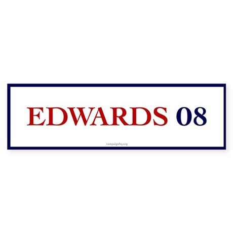 Edwards 08 Bumper Sticker