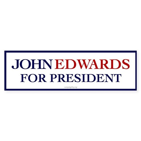 John Edwards for President Bumper Sticker