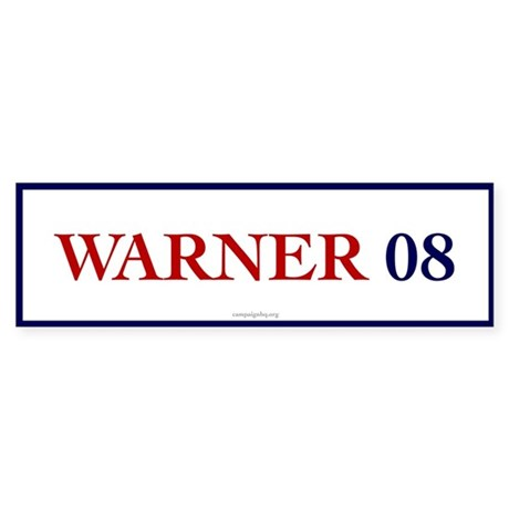 Warner 08 Bumper Sticker