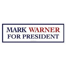 Mark Warner for President Bumper Bumper Sticker