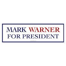 Mark Warner for President Bumper Bumper Sticker