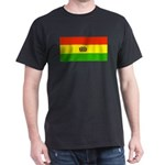 Bolivia Blank Flags Black T-Shirt
