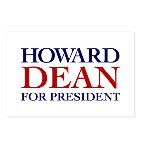 Howards Dean for President Postcards (Pack of 8)
