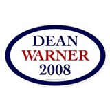 Dean Warner 2008 Oval Decal