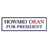 Howard Dean for President Bumper Bumper Sticker