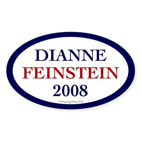 Dianne Feinstein 2008. Oval sticker
