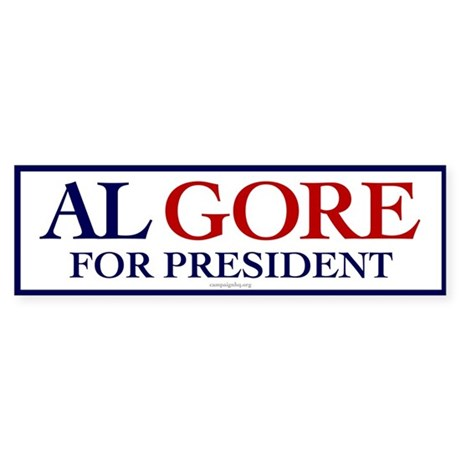 Al Gore for President Bumper Sticker
