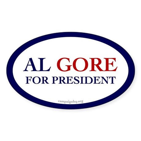 Al Gore for President. Oval Sticker