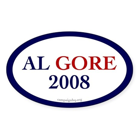 Al Gore 2008. Oval Sticker