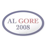 Al Gore 2008. Oval Decal