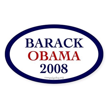 Barack Obama 2008. Oval sticker