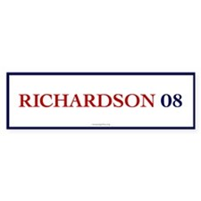 Richardson 08 Bumper Car Sticker