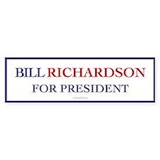 Bill Richardson for President Bumper Car Sticker