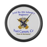 2nd Bn 8th Inf Large Wall Clock