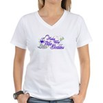 Hudson Valley Wine Goddess Women's V-Neck T-Shirt