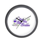 Hudson Valley Wine Goddess Wall Clock