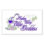 Hudson Valley Wine Goddess Sticker (Rectangle 10 p