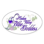 Hudson Valley Wine Goddess Sticker (Oval 10 pk)