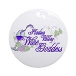 Hudson Valley Wine Goddess Ornament (Round)
