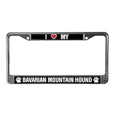Bavarian Mountain Hound License Plate Frame