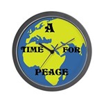 A TIME FOR PEACE WALL CLOCK (10 INCH)
