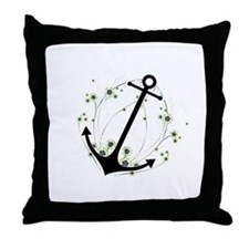 Anchor swirl Throw Pillow