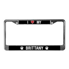I Love My Brittany License Plate Frame