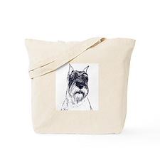 standard schnauzer portrait Tote Bag
