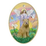 Blessing a Wheaten Terrier Ornament (Oval)
