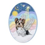 Pastel Clouds - Yorke (Biewer) Ornament (Oval)