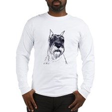 standard schnauzer portrait Long Sleeve T-Shirt