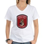 Freeport Police K9 Women's V-Neck T-Shirt