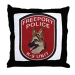 Freeport Police K9 Throw Pillow
