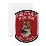 Freeport Police K9 Greeting Cards (Pk of 10)