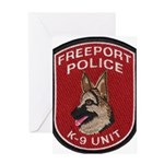 Freeport Police K9 Greeting Card