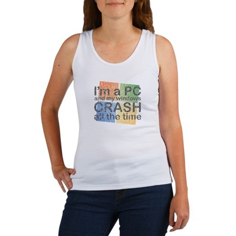 I'm a PC and my windows CRASH Women's Tank Top