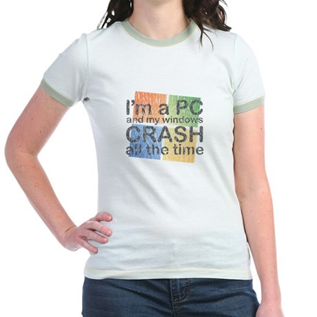 I'm a PC and my windows CRASH Jr. Ringer T-Shirt