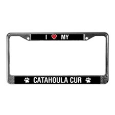 I Love My Catahoula Cur License Plate Frame