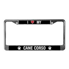 I Love My Cane Corso License Plate Frame