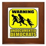 Undocumented Democrats Framed Tile