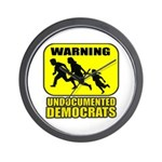 Undocumented Democrats Wall Clock