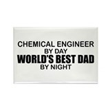World's Best Dad - Chem Eng Rectangle Magnet
