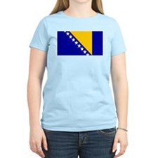 Bosnia Bosnian Blank Flag Women's Pink T-Shirt