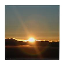Sunrise Sunburst Tile Coaster