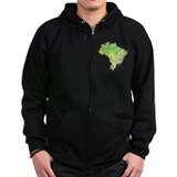 Brazil Map Zip Hoody