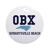Wrightsville Beach NC - Map Ornament (Round)