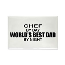 World's Best Dad - Chef Rectangle Magnet