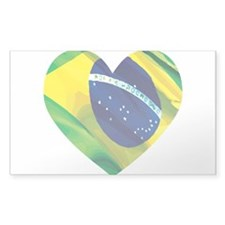 Brazil Heart Flag Solid Decal